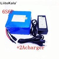 LiitoKala 24v 12ah lithium battery 25.2V 12ah lithium ion battery for 350w bike and 250w motor wit bike