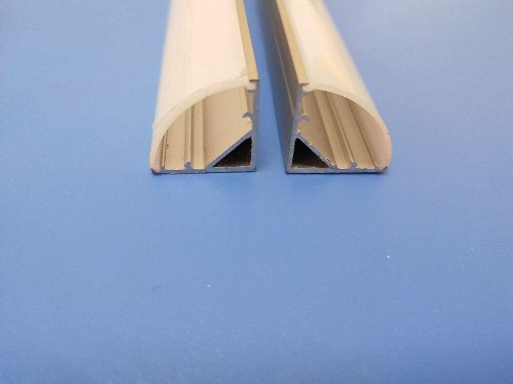 Frete Grátis Liga de alumínio da extrusão profileYL1616 canto levou perfil de alumínio para a tira conduzida luz tampa e tampas Finais incluído