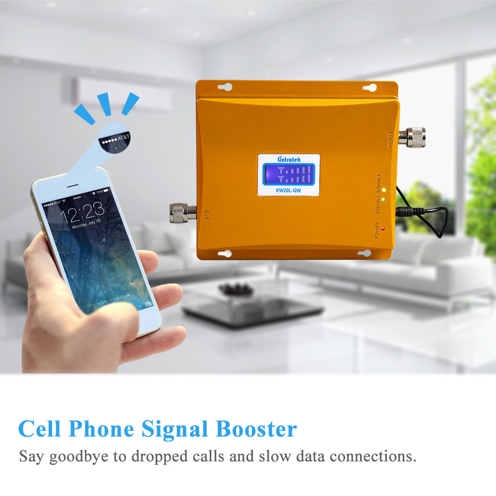 Image 5 - Powerful LCD 3G GSM Cellular Signal Booster Repeater 900MHz 2100MHz UMTS Mobile Cell Phone 3G Amplifier Kit Two Indoor Antenna @-in Signal Boosters from Cellphones & Telecommunications