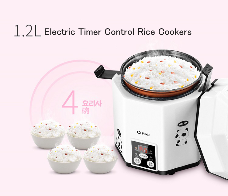 Rice Cookers  Electric Timer Control Rice Cookers 1.2L Small  Intelligent Rice Cooker CFXB12-200B smart mini electric rice cooker small household intelligent reheating rice cookers kitchen pot 3l for 1 2 3 4 people eu us plug