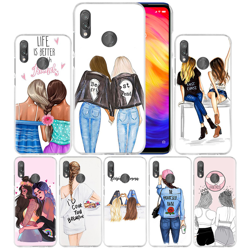 Best Friend Girl Vogue Case for Xiaomi Redmi Note 7 K20 6 6A Pro Y3 7S 7A GO S2 5 MI Play 9T A1 A2 8 lite Poco F1 PC Phone Cover
