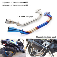 51mm Header Motorcycle Full Connecting Pipe Non-destructive installation Silp on for Yamaha smax155  force155 all years