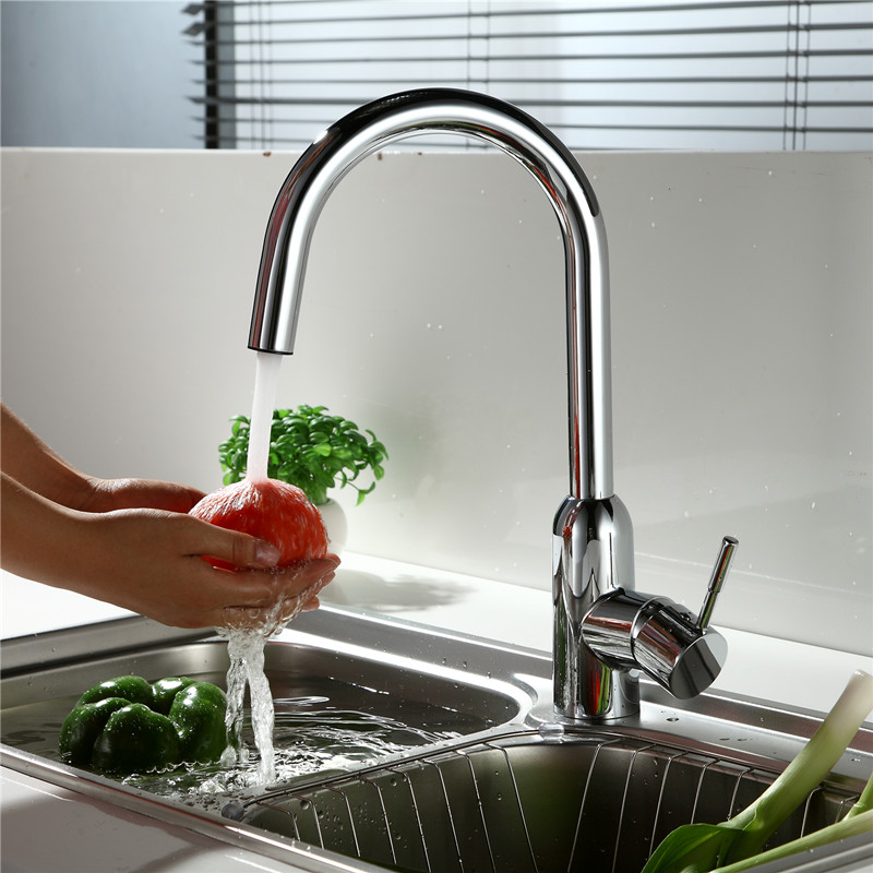 Usherlife Single Handle LEAD FREE Kitchen Faucet NSF ABS Faucets Deck Mounted Mixer Tap Health Wash