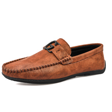 Prowow 2019 New Men Shoes Fashion Shoes Loafers High Quality Genuine Leather Casual Shoes Brand Men Flats Driving Shoes