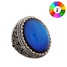 Mojo Vintage Bohemia Retro Color Change Mood Ring Emotion Feeling Changeable Ring Temperature Control Ring for Women MJ-RS029