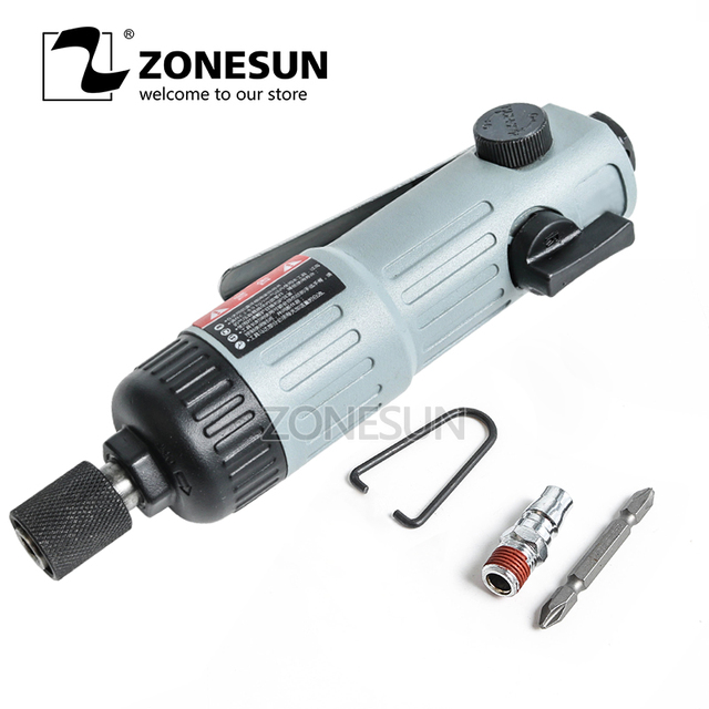 ZONESUN 7222L 5mm bolt Pneumatic tools air tools Air Screwdriver strong powerful tools double hammer air Impact Wrench gun style
