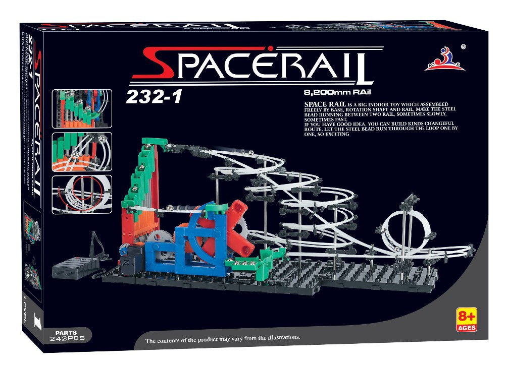 Free ship, Second Generation Space Rail Toys, New Roller coaster Level 1: UP DOWN STAIR, Overspeeding Model Building Kits 232-1 4