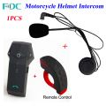 1Pcs 2016 Newest Colo-RC BT Helmet Intercom Headset Remote Control Motorcycle Helmet Bluetooth Intercom Interphone with FM NFC