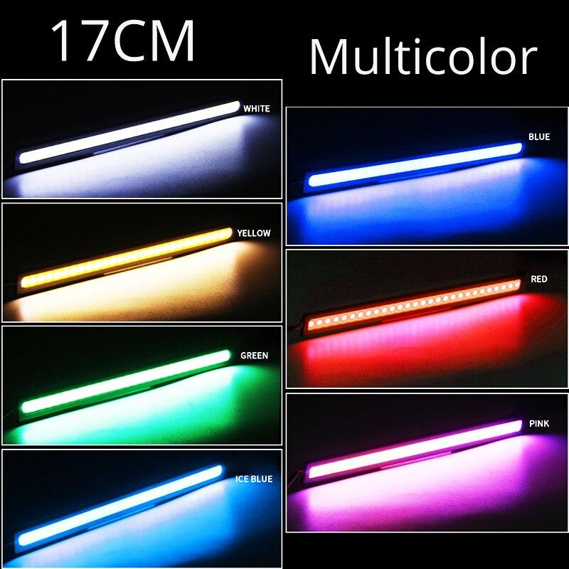 2 шт./компл. Высокое качество 17 см COB DRL Противотуманные светильник автомобиля внешний декоративный светильник Авто Водонепроницаемый стайлинга автомобилей светодиодные ленты
