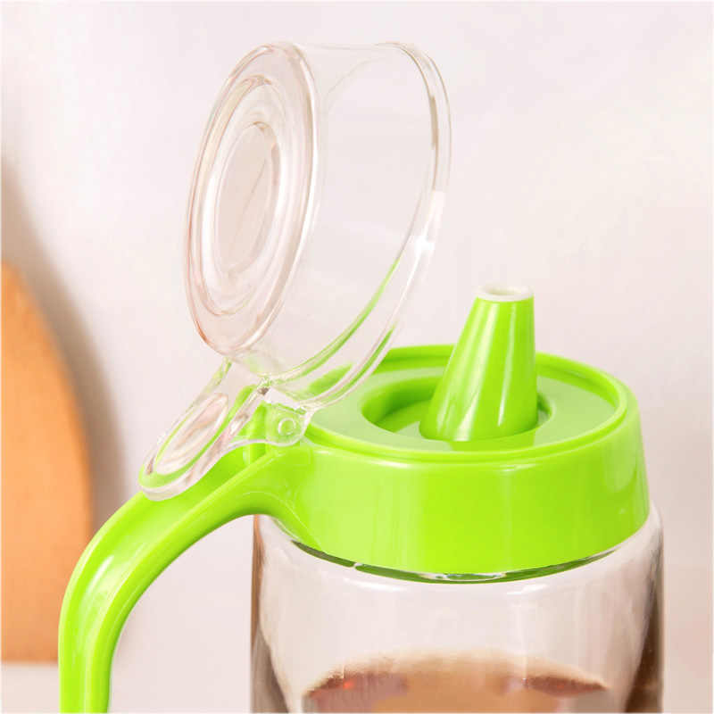 Kreatif Kaca Anti Bocor Kapal Tangki Dapur Rumah Penyimpanan Penyimpanan Jar Bumbu Cuka Dimakan Botol Minyak Kecap Botol Alat
