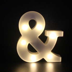 Image 4 - 3D White 26 Letter Alphabet LED Light Marquee Sign Night Light Wall Hanging Lamp Bedroom Wedding Birthday Party Decor
