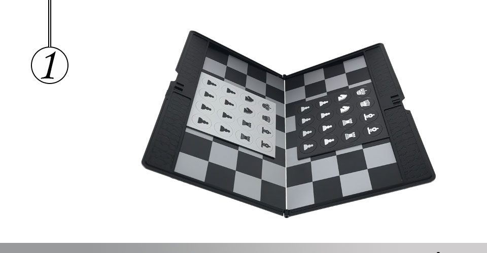Easytoday Mini Chess Games Set Plastic Chess Board Portable Magnetic Folding Chess Pieces Pocket Entertainment Games (1)