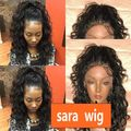 Off Black 1b# Natural deep curly Wigs for African American Women Free Part 150%Natural Looking Babyhair  100% Fiber Lace Wig