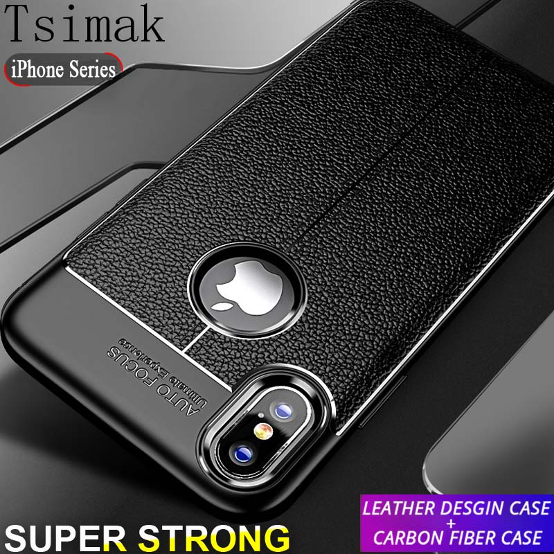 newest 0d402 926ff US $0.97 25% OFF|Tsimak Case For iPhone X XR XS Max Cover iPhone 6 6s 7 8  Plus Case Soft Silicone Bumper Shockproof Armor Back Phone Coque-in Fitted  ...