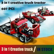 совместимый с lego Technic Series 4955 24023 607 Pcs Модельное здание Блоки игрушки творческий грузовик трактор DIY игрушки и хобби