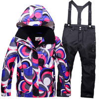 New Children Skiing Clothing Girl Or Boy Ski Suit Sets Skiing Snowboard Costume Windproof Therma Ski