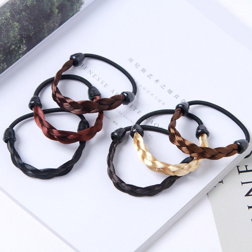 Creative Buckle Hair Band Elastic Bracelet Hair Rope Ponytail Holder Women Gift