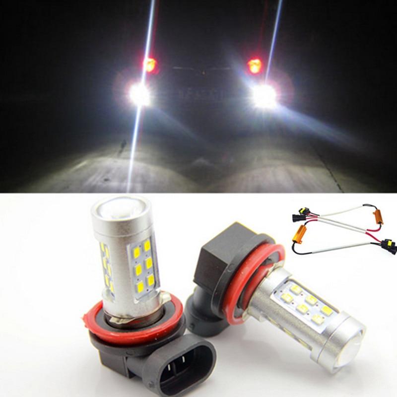 Бесплатная доставка, 2x Н11 LED проектор туман света DRL 12 Вт нет ошибка для Audi А1 А4 А5 А6 С5 В3 В5 SQ5 ТТ