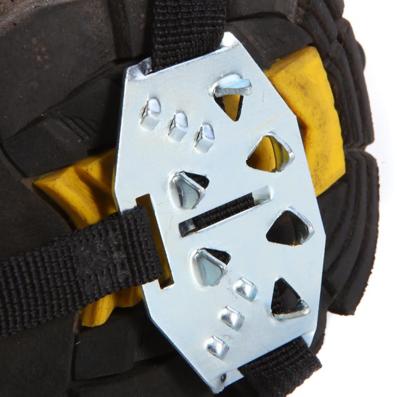 Új Stainless Pair 24 fogak Ice Gripper Kültéri hegymászás - Kemping és túrázás - Fénykép 2