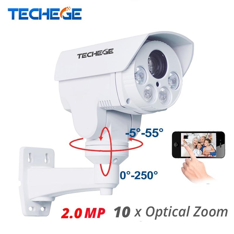 Techege 10 3xoptical 2.8-12mm Zoom Auto Full HD 1080 p 2.0MP PTZ IP Intempéries Caméra de Vision Nocturne IR 80 m P2P de Sécurité IP Cam