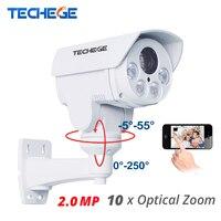 Techege 10xoptical 2,8 12 мм зум Авто Full HD 1080 P 2.0MP PTZ IP Камера всепогодный Ночное видение ИК 80 м P2P IP Security Cam