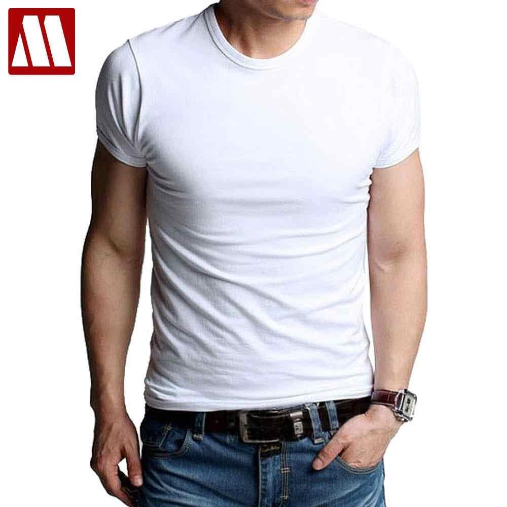 7d84e6c3dc101 Мужские футболки из эластичного хлопка, мужские повседневные футболки, мужская  одежда, повседневные майки с