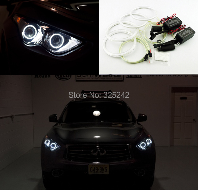 For Infiniti FX QX70 FX35 FX37 FX50 2009 2010 2011 2012 2013 Excellent angel eyes Ultrabright illumination CCFL Angel Eyes kit for honda odyssey 4th g rb3 rb4 chassis 2008 present excellent ultrabright headlight illumination ccfl angel eyes kit halo ring
