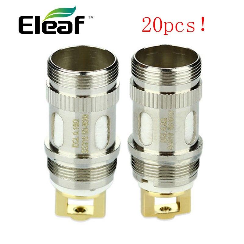 Bobine d'origine Eleaf ijust S ECL 20 pc bobine de remplacement 0.18hm/0.3ohm pour Eleaf ijust 2/ijust s/MELO 2 MELO 3/Lemo 3 atomiseur
