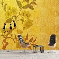 Vintage Wall Decor Golden New Chinese Hd Wall Murals Best Wallpapers Bedroom Wallpaper Ideas Kids Bedroom