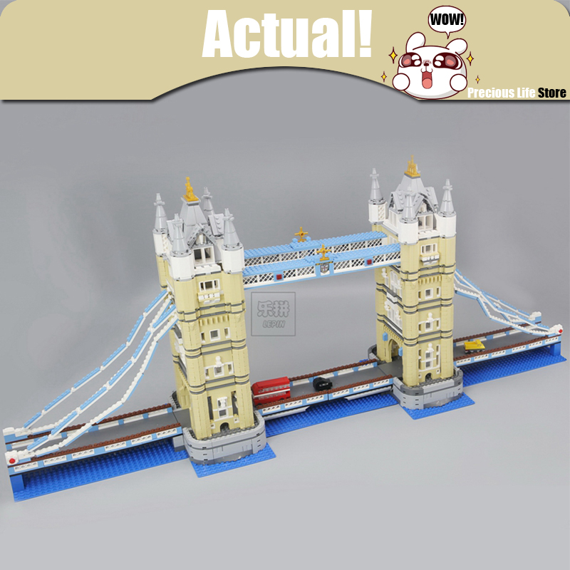 LEPIN London Tower Bridge 17004 4295Pcs Creator Expert Model Building Kits Blocks Bricks Compatible Toys for children Gift 10214 sbart women water sports swimsuit sexy scoop female swimsuit one piece swimwear women backless monokini bathing suit swim wear
