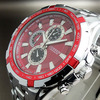 CURREN NEW WATER CLOCK HOURS DIAL RED ANALOG LUXURY SPORT MEN STEEL WRIST WATCH FREE SHIPPING