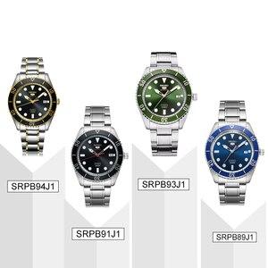 Image 4 - Reloj de hombre SEIKO 5 100% Original, reloj deportivo automático mecánico de 10 Bar resistente al agua SRPB94/91/89/93J1 de acero inoxidable