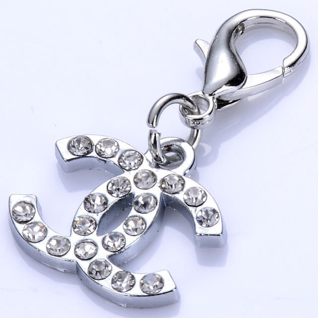 Popular Rhinestones Dog Charm For Dog Collar Pendants Tags For Necklace Jewelry Accessories For Pets