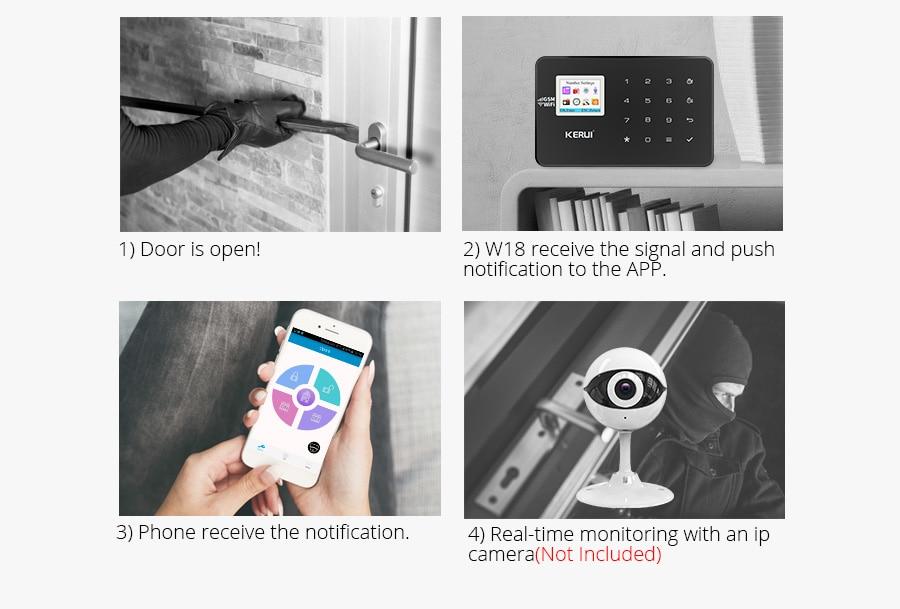 app pet kit combinação alarme remoto infravermelho