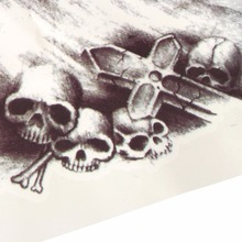 Big Temporary Fake Tattoos Stickers Black Death Skull Tattoos Large Arm Should Temporary Tattoo For Men Boy