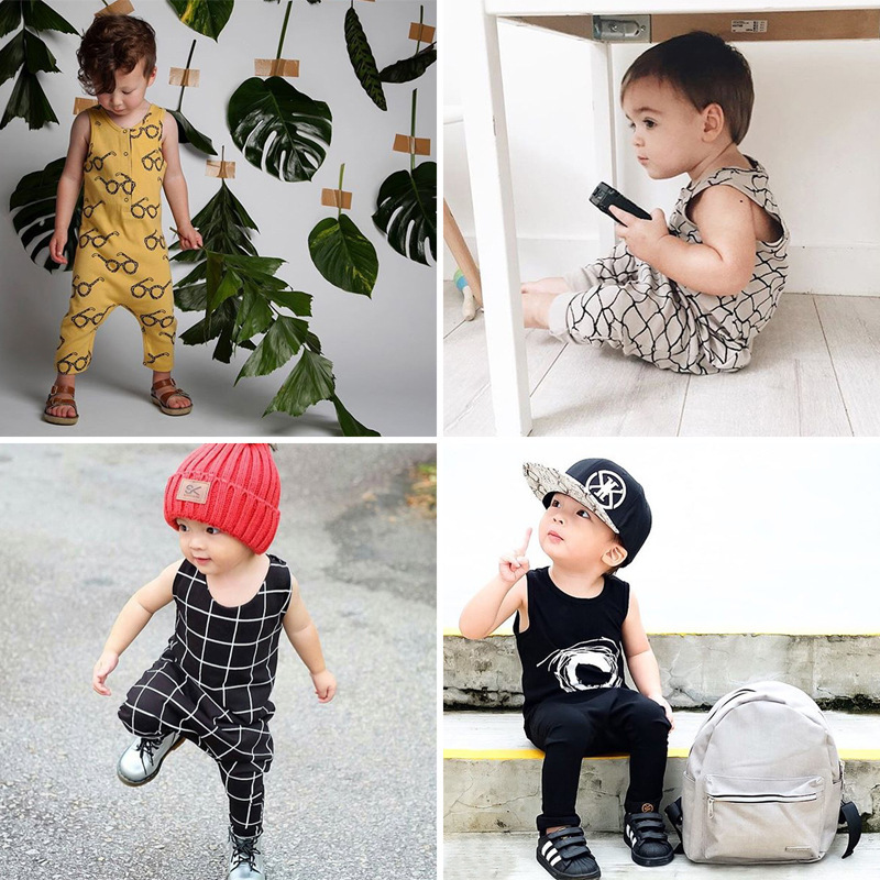 2017 Newborn Baby Boy Girl Clothes Summer Fashion Sleeveless Baby Romper Tiny Cottons Jumpsuit Outfit Playsuit Onesie fashion newborn baby girl clothes short romper tutu skirt