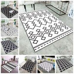 Nórdico geométrico impresso tapetes moderno mesa de café quarto sala de estar antiderrapante tapeete moderna decoração para casa tapetes