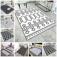 Nordic Geometrische Gedruckt Teppiche Teppiche Moderne Kaffee Tisch Schlafzimmer Wohnzimmer Non-Slip Tapete Moderne Dekoration Fußmatten