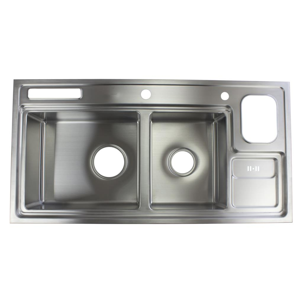 Online Shop 38 1 2 Inch 12mm Thickness Stainless Steel Topmount Drop In Double Bowl Kitchen Sink Free Accessories Aliexpress Mobile