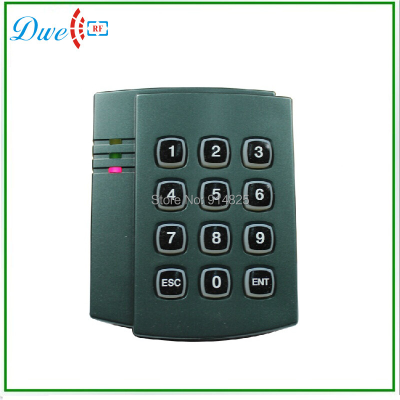 13.56Mhz IC Wiegand 34 PVC Keypad Proximity rfid reader door access control Free Shipping wiegand 26 protocal 13 56mhz rfid ic access control card reader without keypad original manufacture ic card reader door access