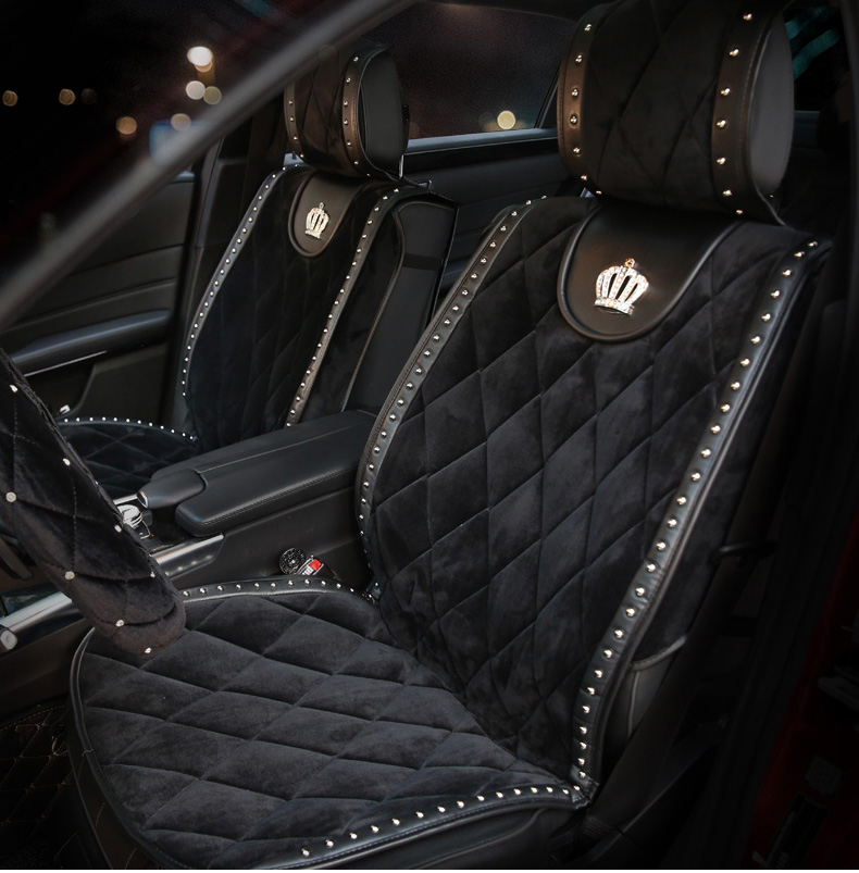 Winter-Plush-Universal-Car-Seat-Cover-Diamond-Crown-Rivets-Auto-Interior-Seat-Cushion-Accessories-Black-Front-Seats-Covers-122