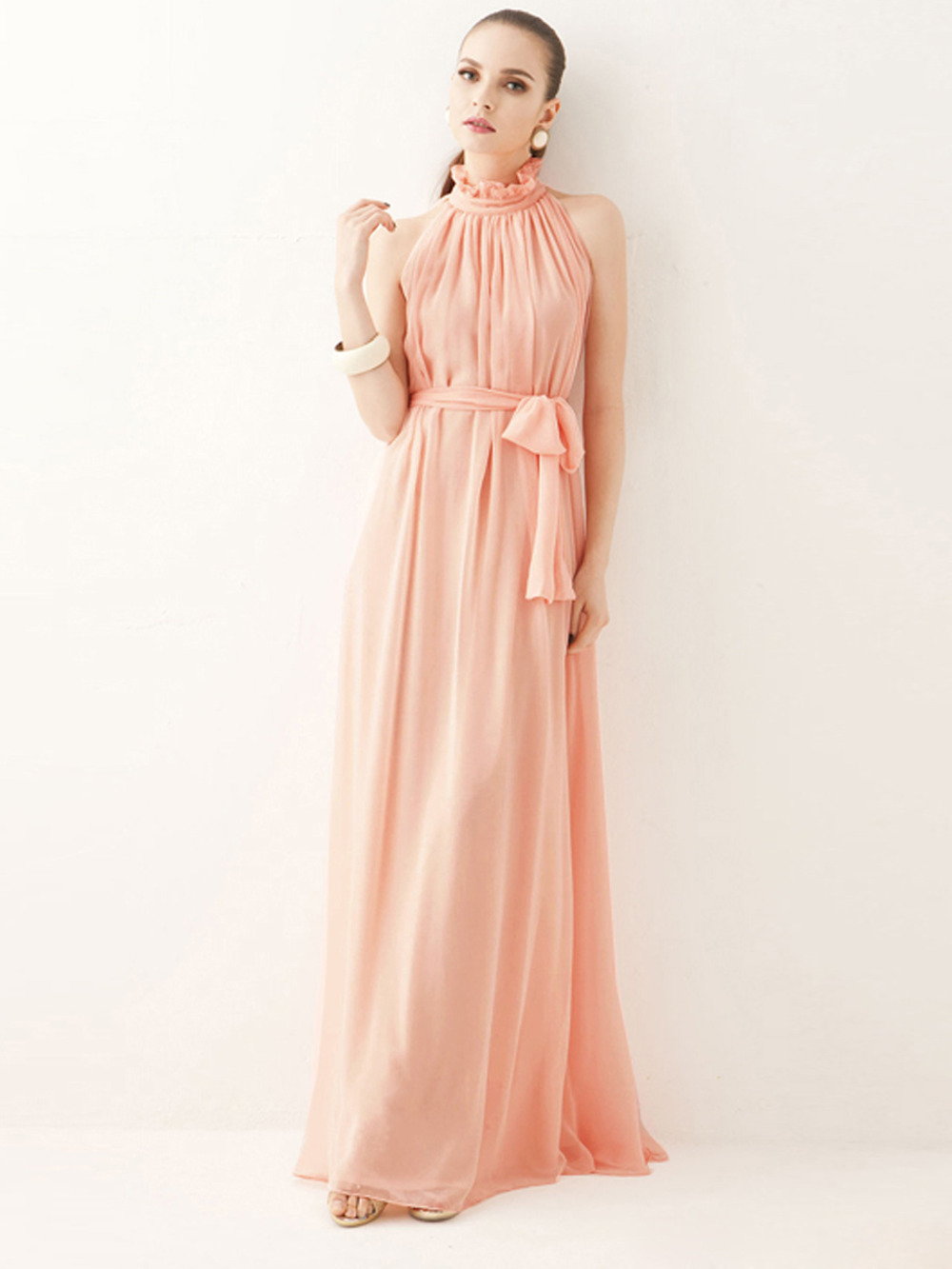 Online get cheap pink maxi dress maternity aliexpress peach pink long elegant maternity dress gown for summer holiday beach maxi dress ombrellifo Gallery
