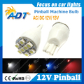 100 unids pinball Luces LED bombilla lámpara No ghosting AC 12V13V T15 921 #906 Wedge Base de cerveza brillante estupendo juego de pinball machine parts