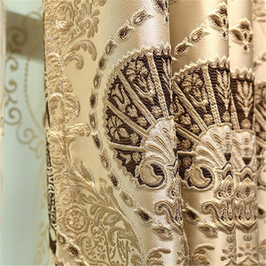 Image 5 - European luxury 3D embossed custom Blackout curtains for Living Room royal aristocratic curtains for Bedroom/Kitchen Windows