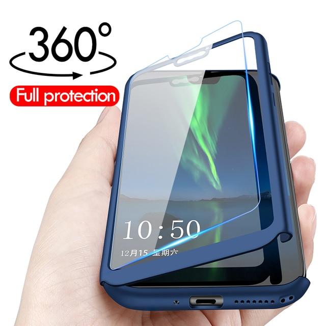 Luxury 360 Full pocophone F1 Cover For Xiaomi mi 9 8 Lite SE Glass Case For Xiaomi mi max 3 2 MIX Play 6X 5X 5S PLUS Shell Case