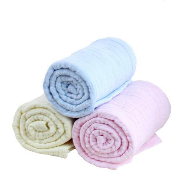 110 CM * 110 CM new hot bebê cobertores cobertores cor sólida terno de algodão criança moda nascido recebendo cobertores para dormir saco