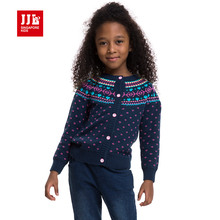 girls sweater round neck geometric pattern girls knitted sweater autumn winter kids clothes preppy style for girls 4-11y new