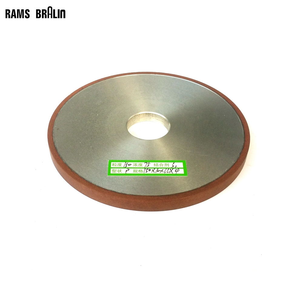 150*10*32*4mm Flat Diamond Abrasive Grinding Wheel for Alloy Steel Ceramic Glass Jade CBN Grinding