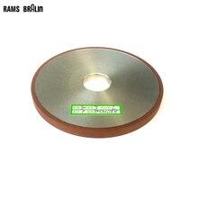 Muela abrasiva plana de diamante para pulido de aleación de acero, cerámica, vidrio, Jade, CBN, 150x10x32x4mm