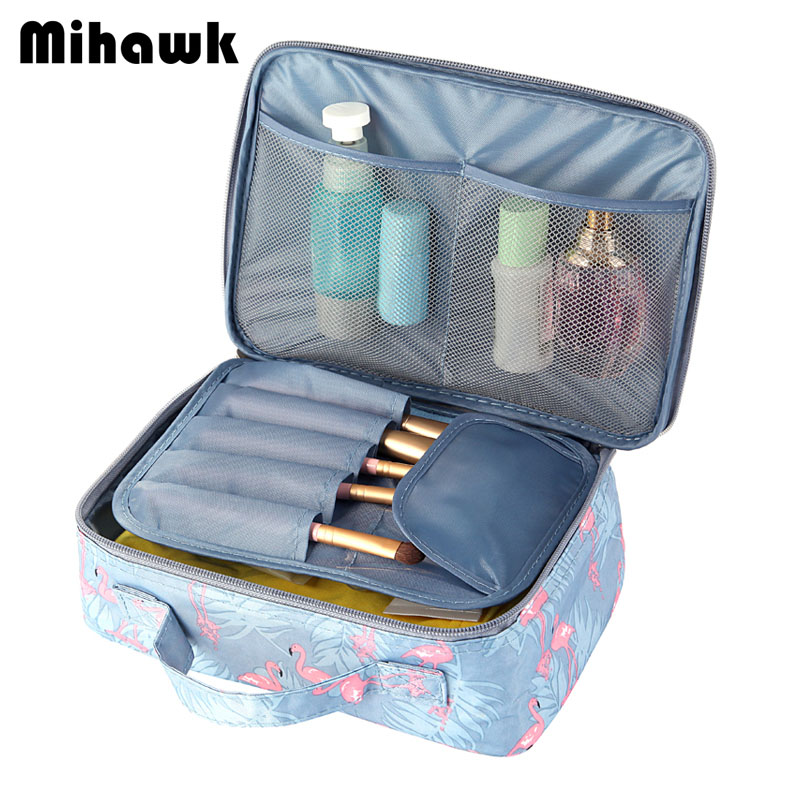Mihawk Multicolor Style Fashion Portable Cosmetic Bag Women's Travel Necessary Storage Small Items Organizer Accessories Supply solid color fashion cosmetic bag ladies portable travel necessary markup pouch storage beauty tools accessories supply products